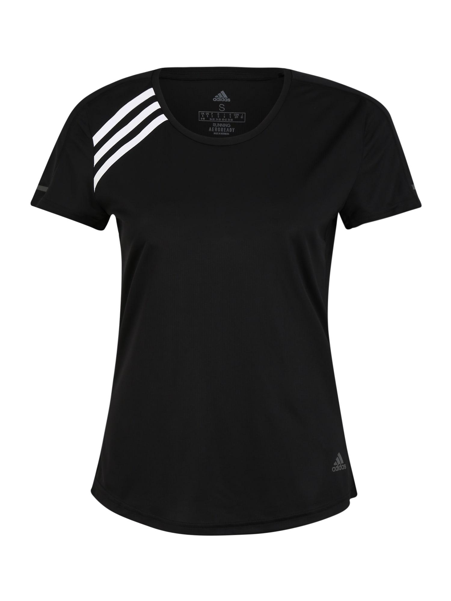 ADIDAS PERFORMANCE Sportiniai marškinėliai balta / juoda / pilka