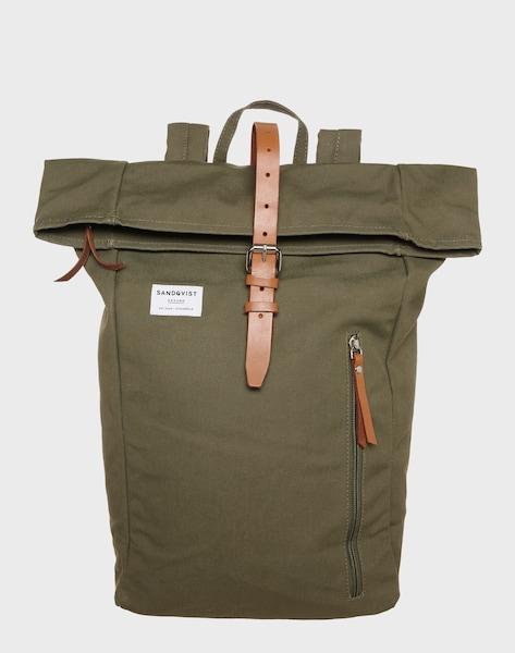 sandqvist roll up rucksack 39 dante 39 in oliv about you. Black Bedroom Furniture Sets. Home Design Ideas
