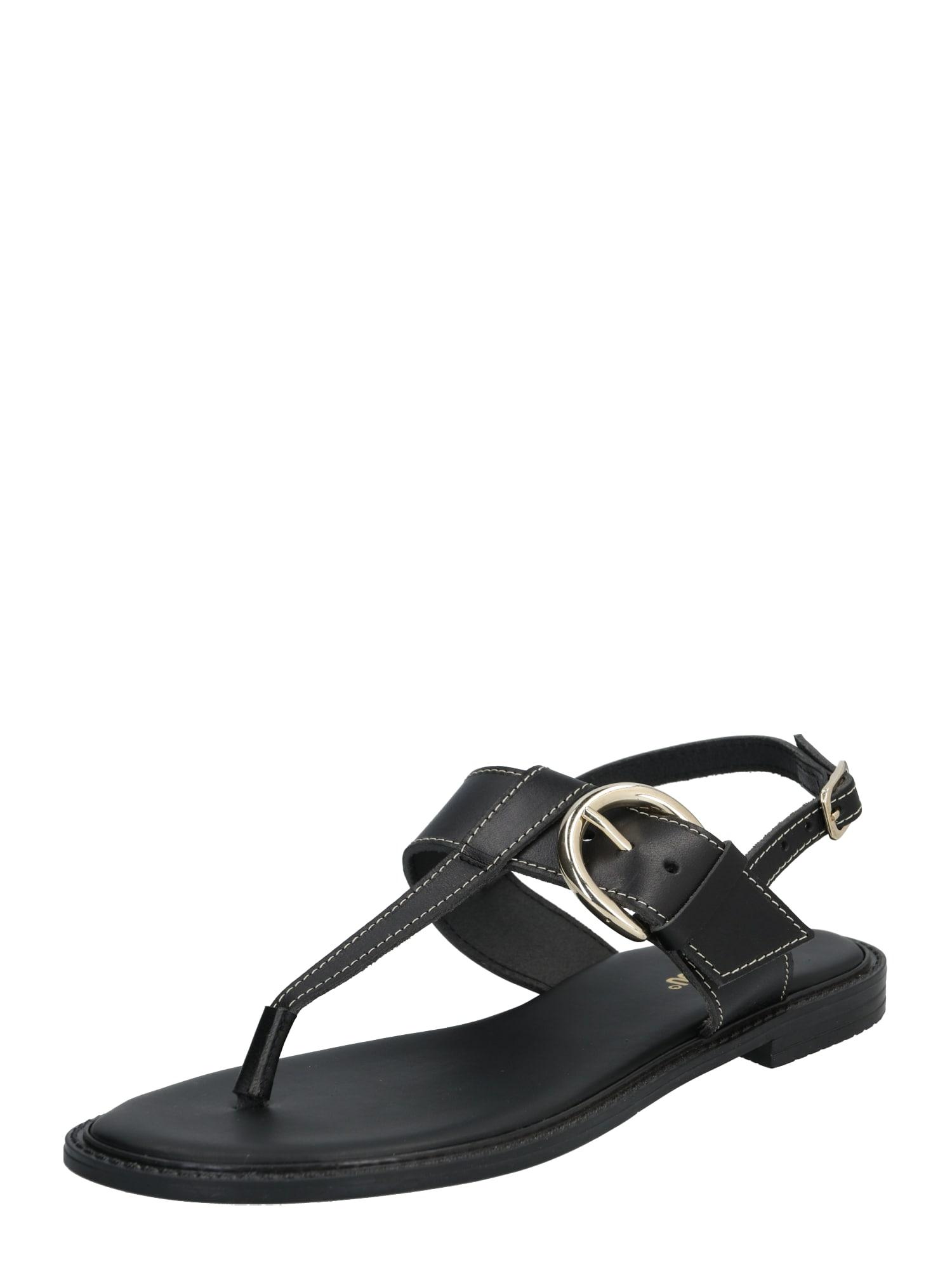 ABOUT YOU Páskové sandály 'Marielle'  černá