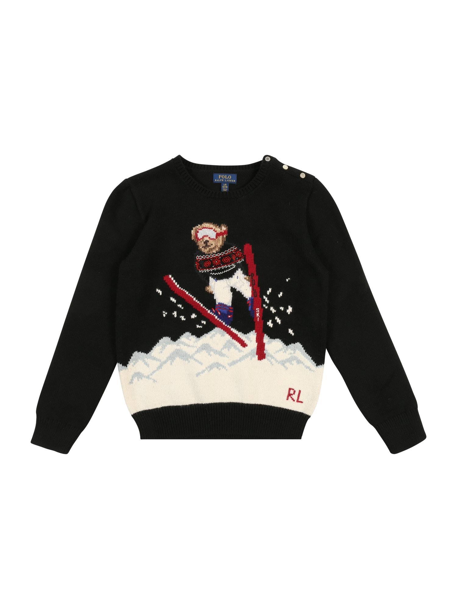 Kinder,  Mädchen,  Kinder Polo Ralph Lauren Pullover 'SKI JUMP' schwarz | 03615736651524