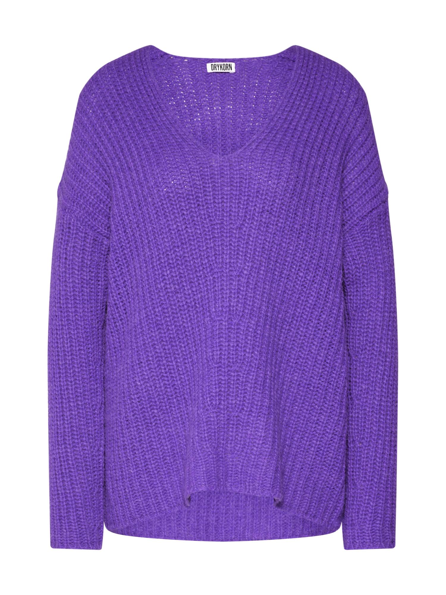 DRYKORN Megztinis 'LINNA' purpurinė