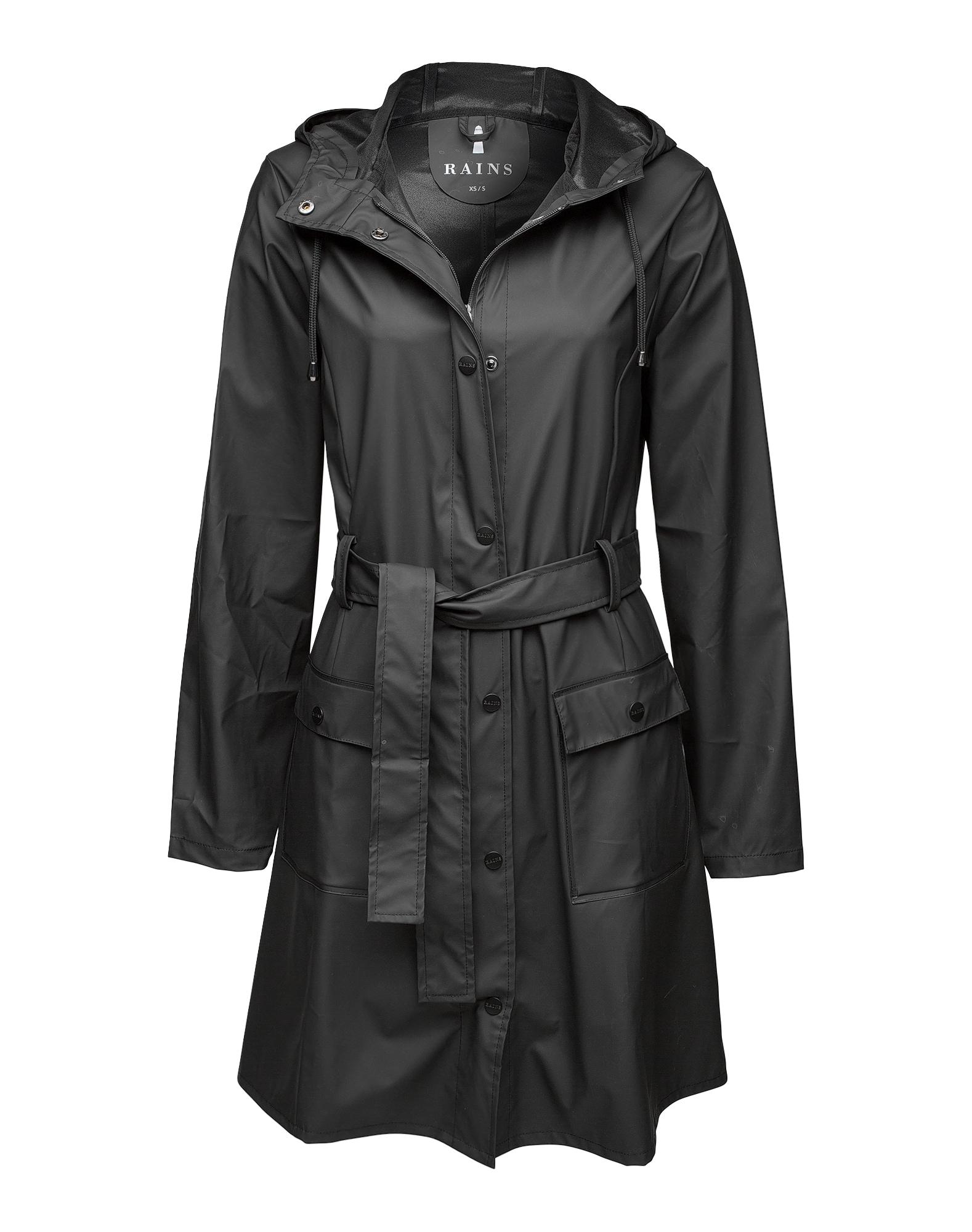 RAINS Demisezoninis paltas juoda