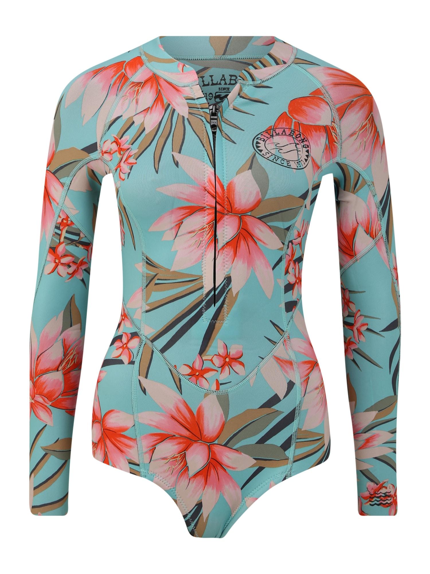 BILLABONG Nardymo kostiumas žalia / šviesiai mėlyna / rožių spalva