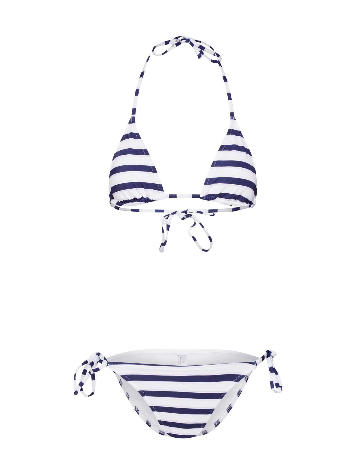 Bikiny bikini set tmavě modrá bílá Anna Field