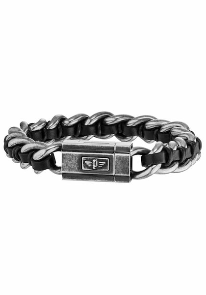 Armbaender für Frauen - POLICE Armband 'SCHOCK II, PJ26052BSE.01 L' grau  - Onlineshop ABOUT YOU