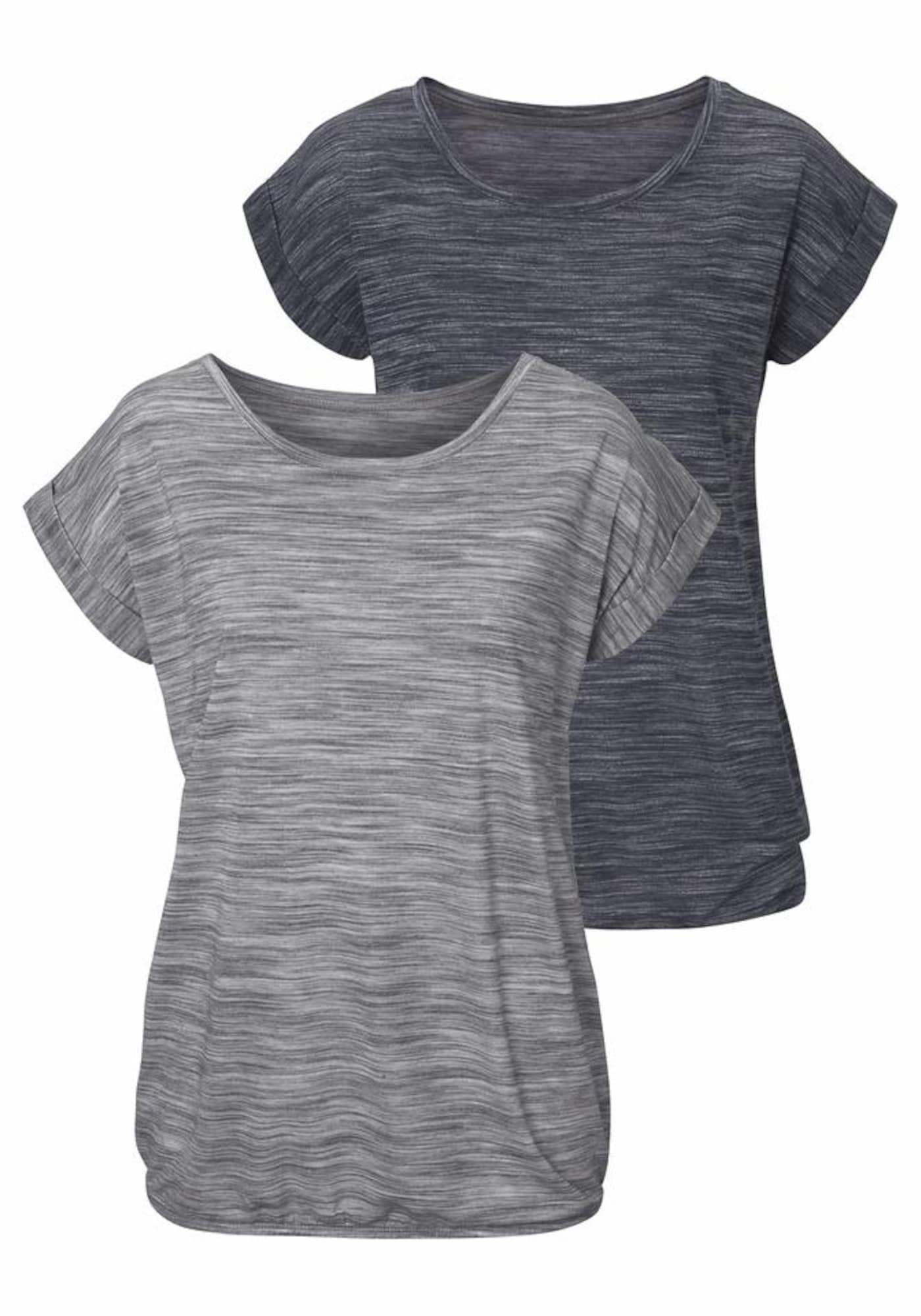 BEACH TIME Marškinėliai margai pilka / margai juoda