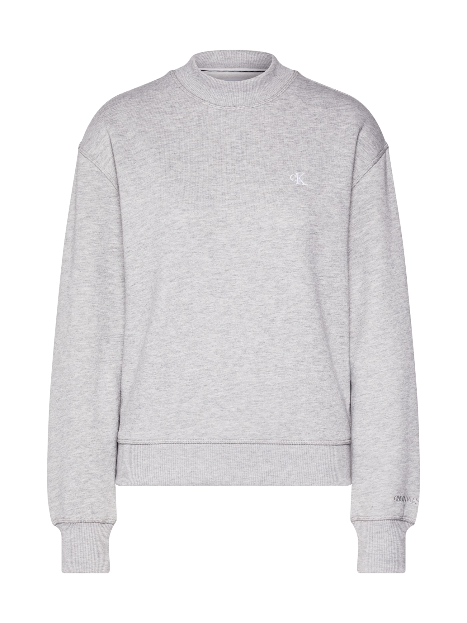 Calvin Klein Jeans Megztinis be užsegimo 'EMBROIDERY' pilka