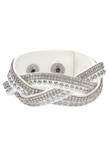 Armbaender für Frauen - J. Jayz Armband hellbraun weiß  - Onlineshop ABOUT YOU