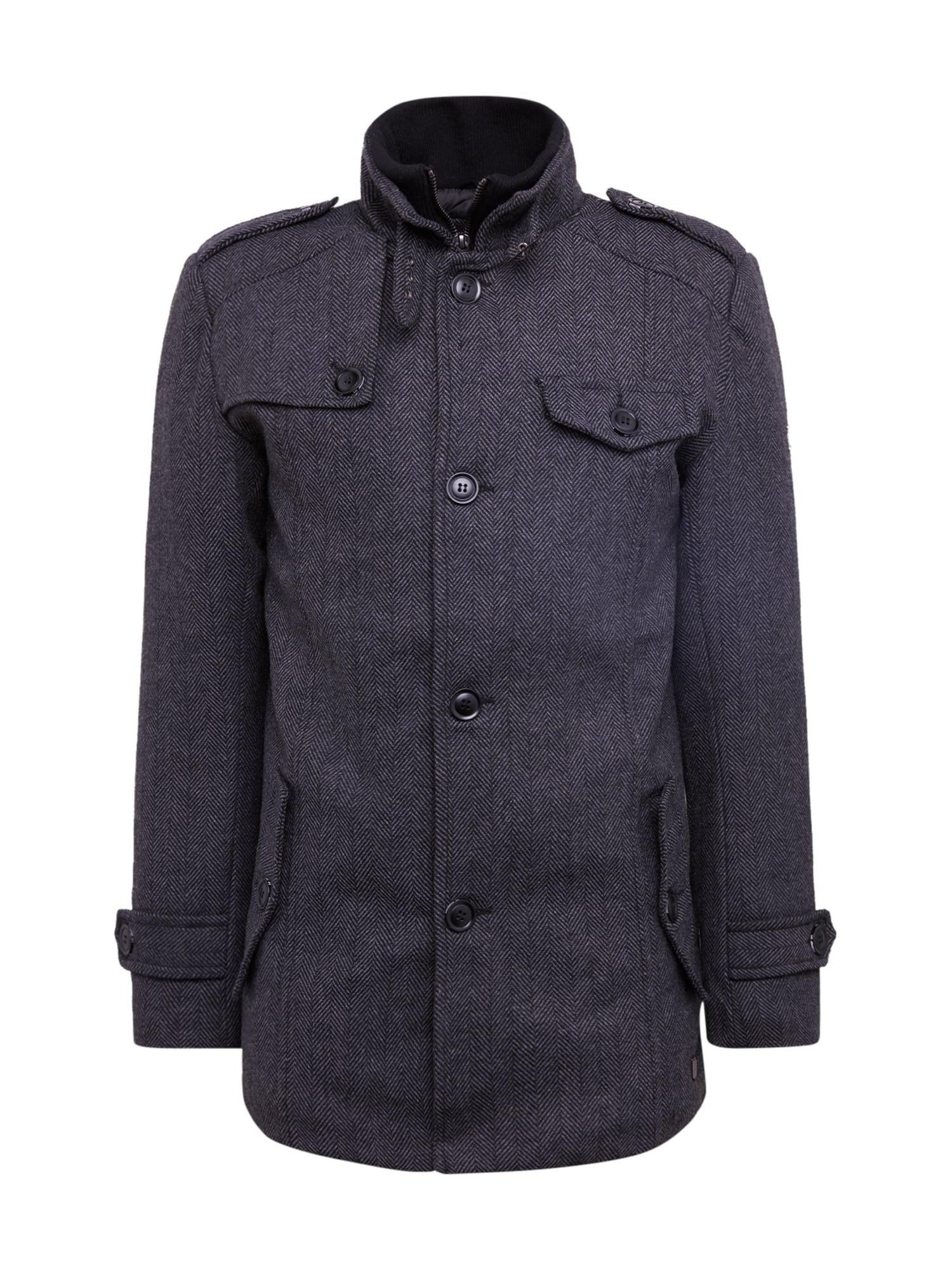 INDICODE JEANS Rudeninis-žieminis paltas 'Brendan' pilka