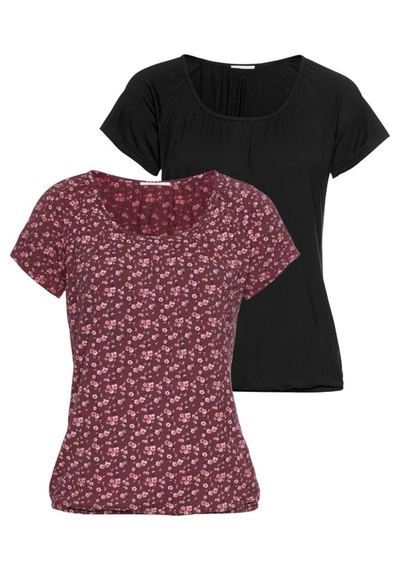 VIVANCE Marškinėliai vyšninė spalva / juoda