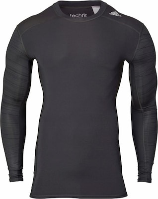 ADIDAS PERFORMANCE Funktionsshirt 'TECHFIT BASE LONG SLEEVE TEE PRINT'