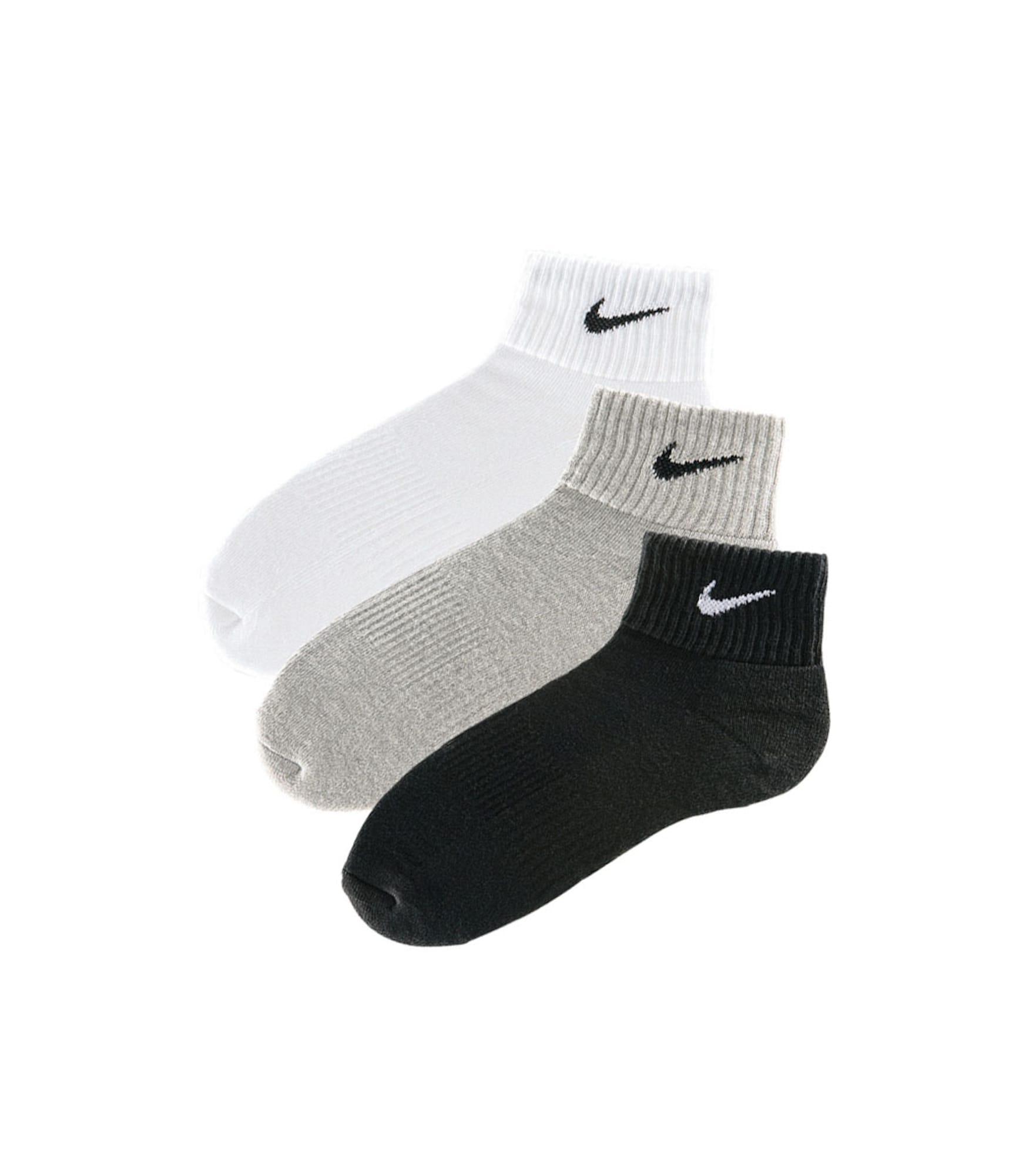 NIKE Sportinės kojinės pilka / juoda / balta