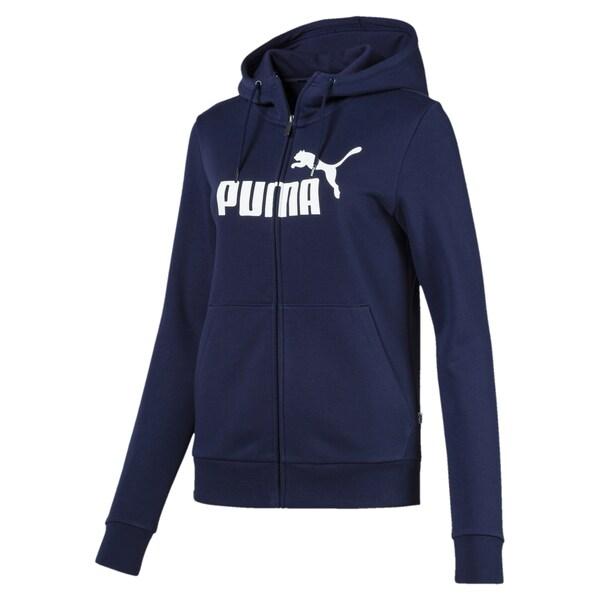 Sportmode - Kapuzenjacke 'Essentials Logo' › Puma › blau  - Onlineshop ABOUT YOU