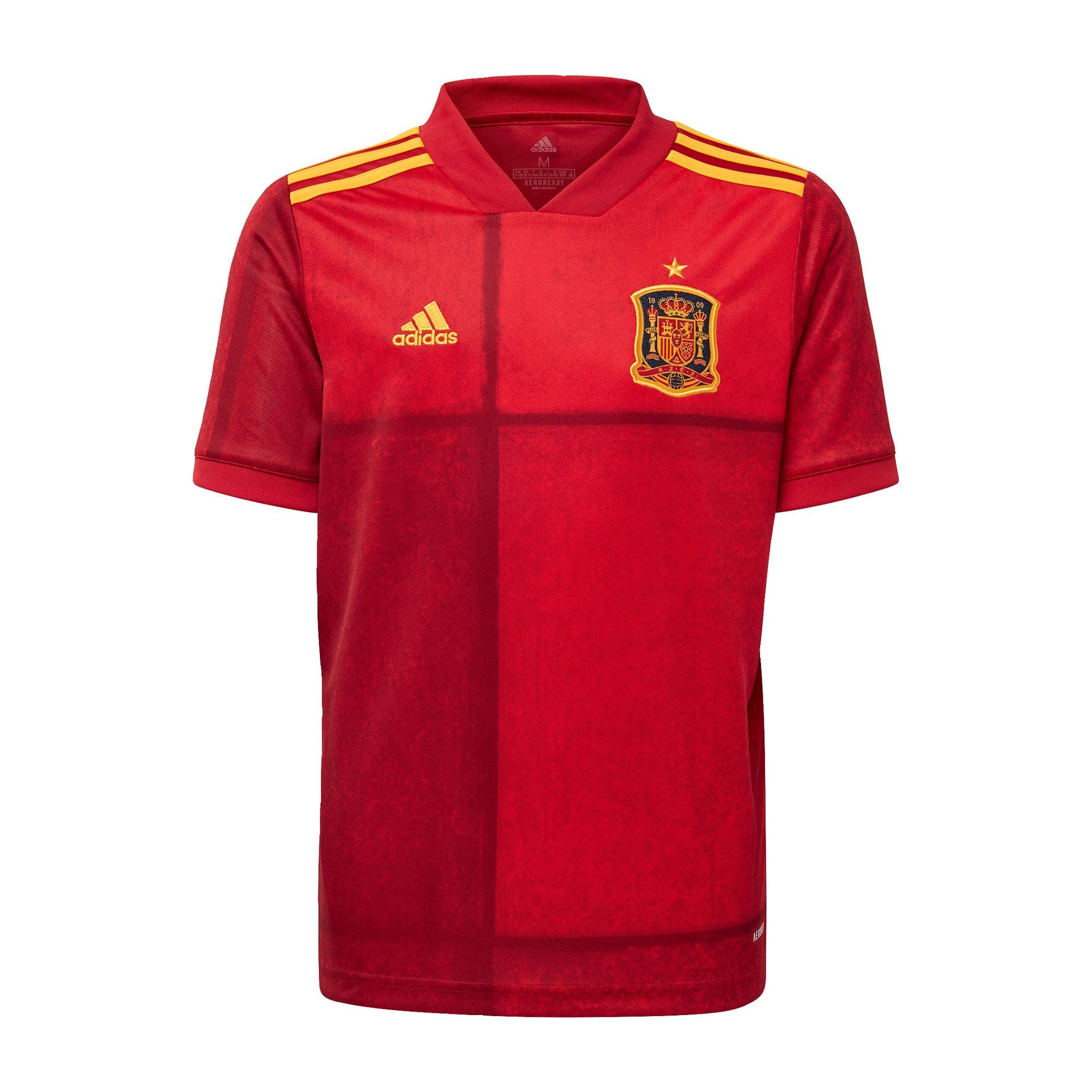 ADIDAS PERFORMANCE Sportiniai marškinėliai 'Spanien EM 2020 Heim' šviesiai raudona / aukso geltonumo spalva / raudona
