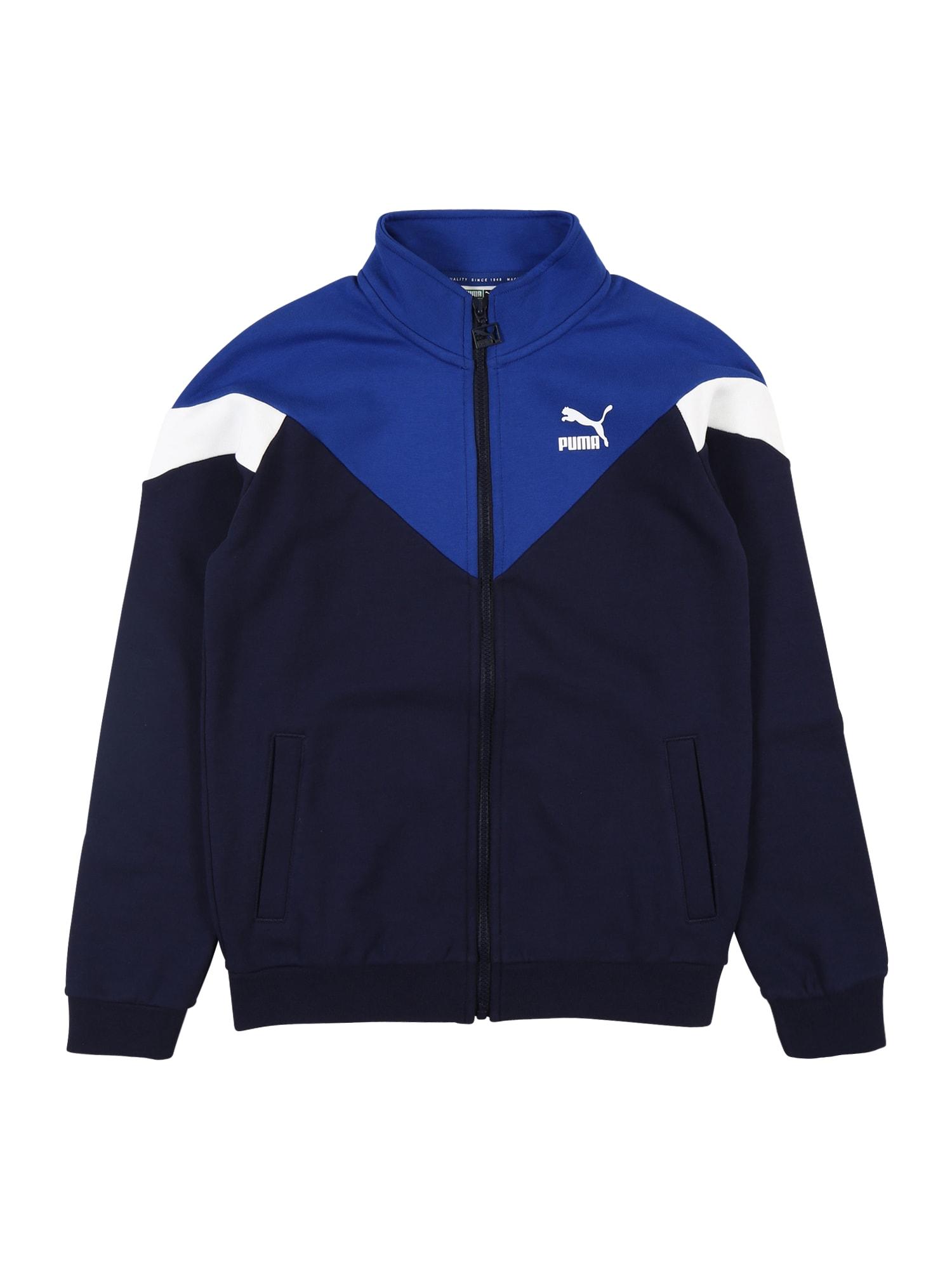 PUMA Sportovní bunda  marine modrá / nebeská modř / bílá