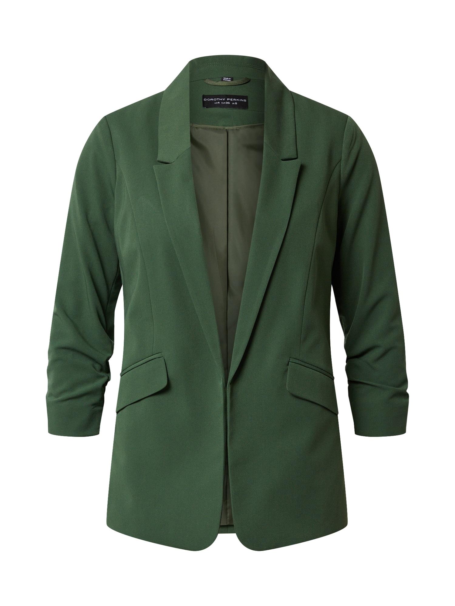 Dorothy Perkins Blazer švarkas tamsiai žalia