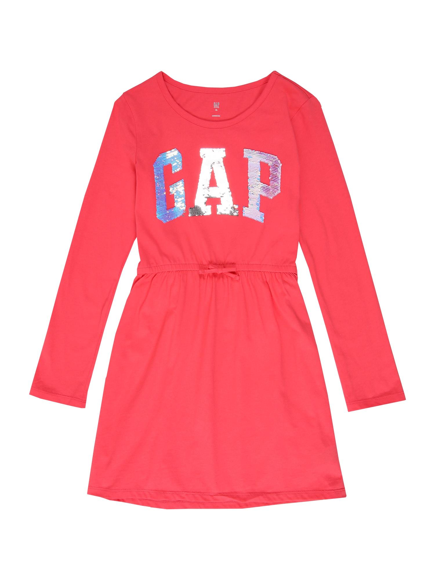 GAP Suknelė tamsiai rožinė / sidabrinė
