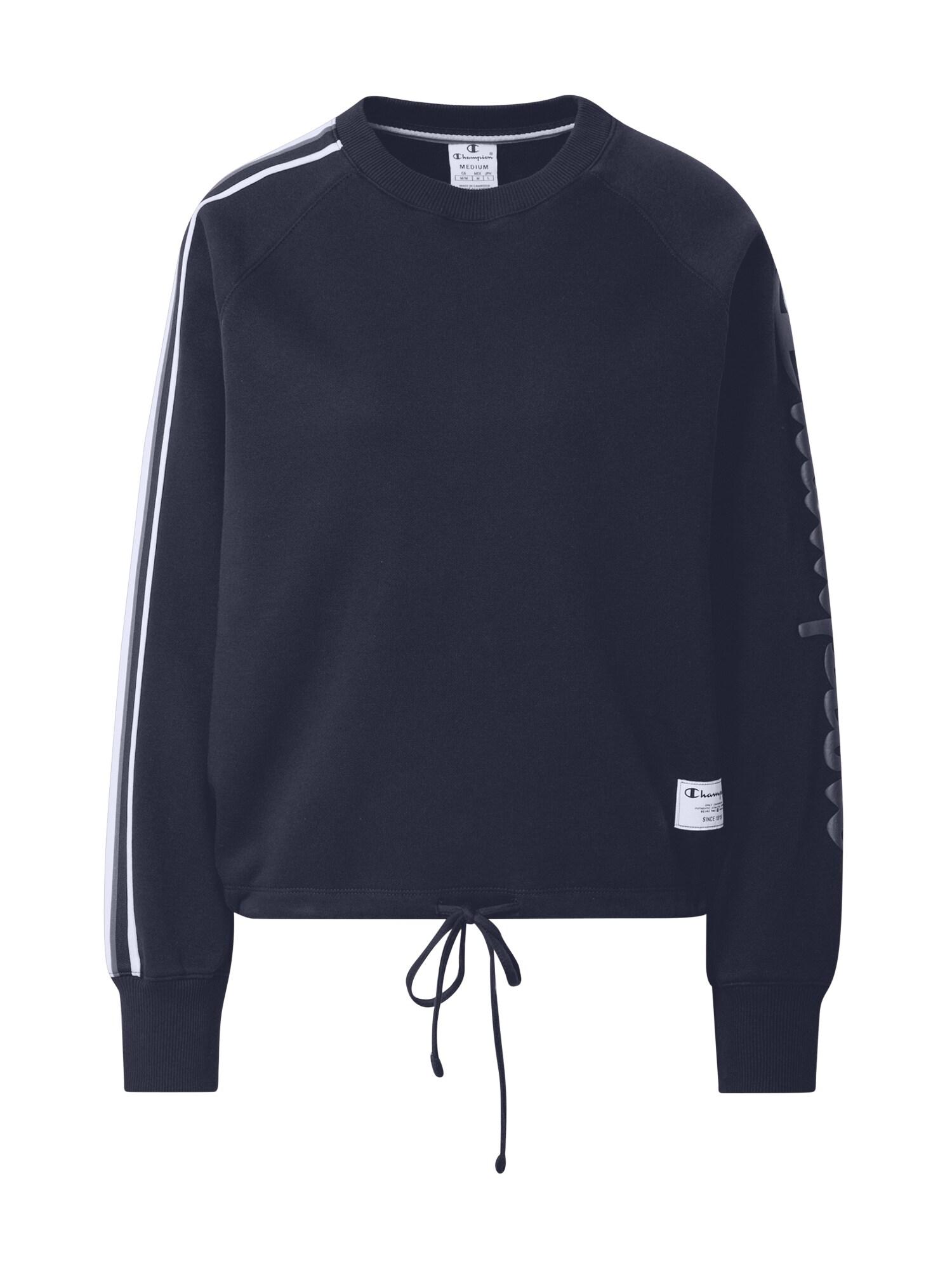Champion Authentic Athletic Apparel Megztinis be užsegimo tamsiai mėlyna / balta / pilka