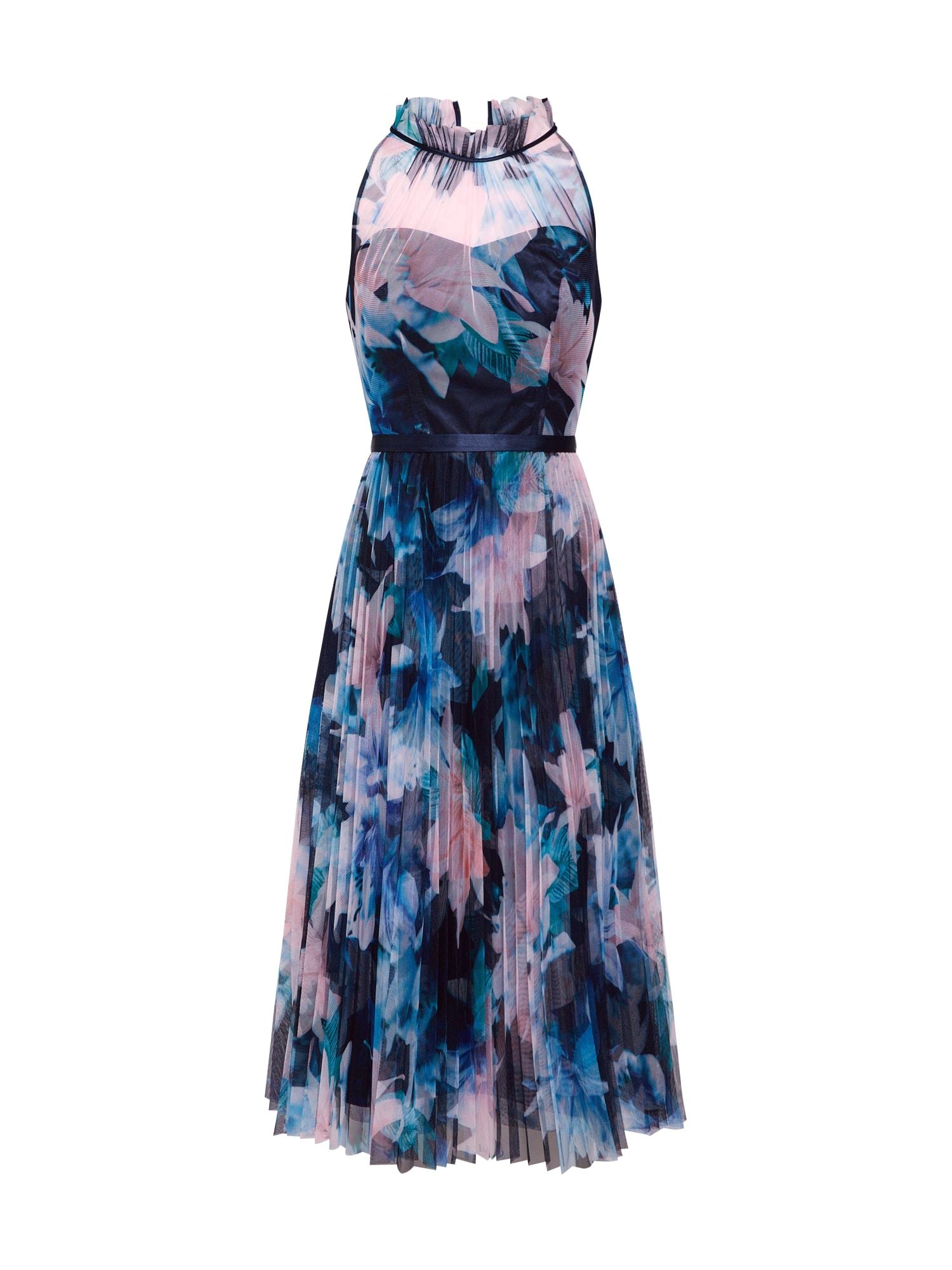 Koktejlové šaty Etana Jagger modrá mix barev černá Coast