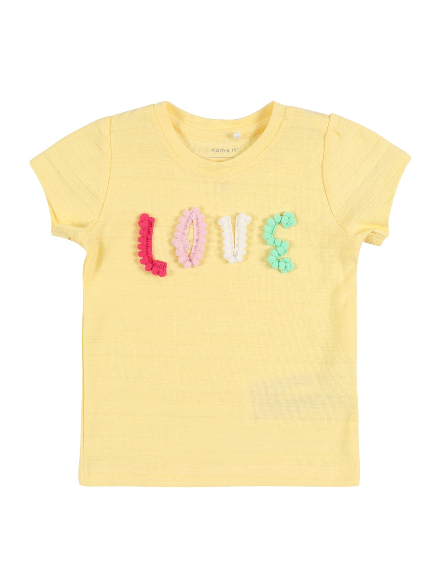 NAME IT Marškinėliai šviesiai geltona / mišrios spalvos