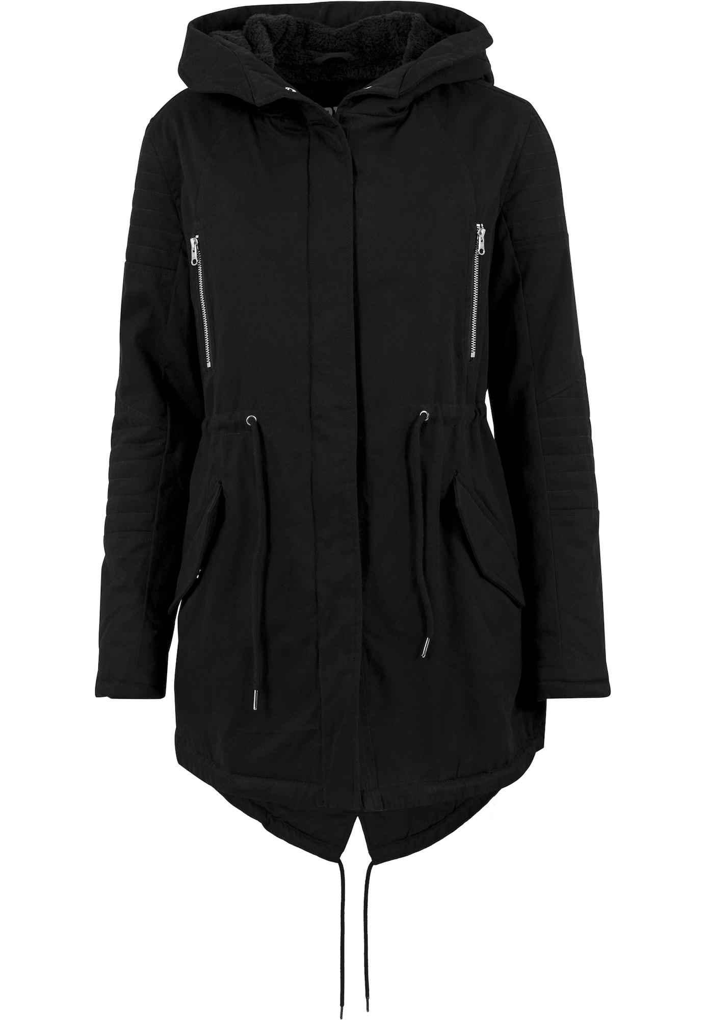Urban Classics Ilga rudeninė-žieminė striukė juoda