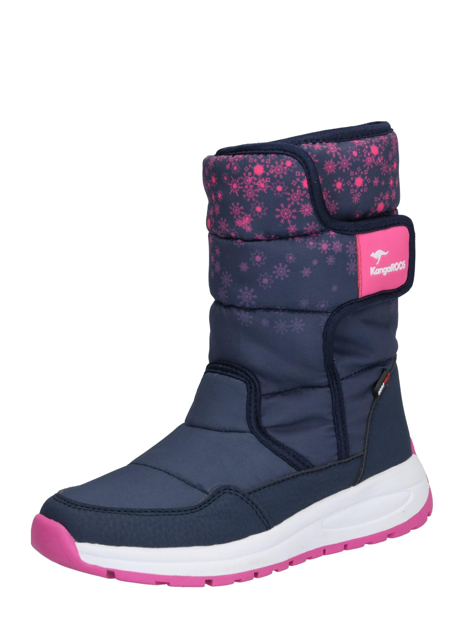 KangaROOS Sniego batai tamsiai mėlyna / rožinė