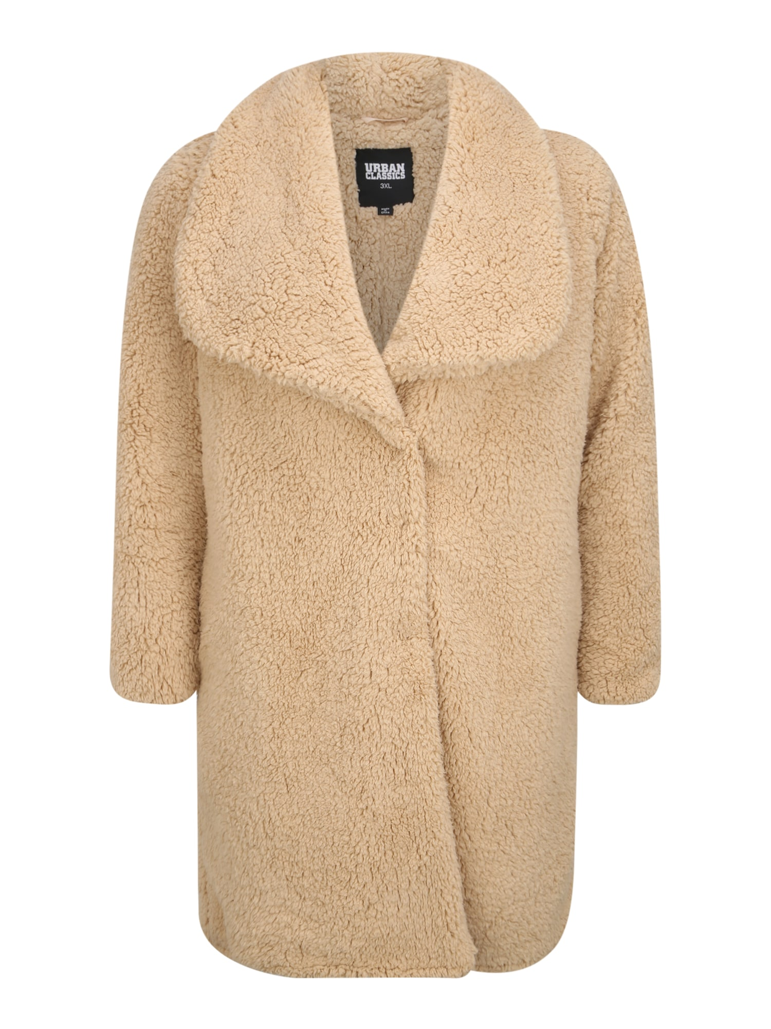 Urban Classics Curvy Demisezoninis paltas smėlio
