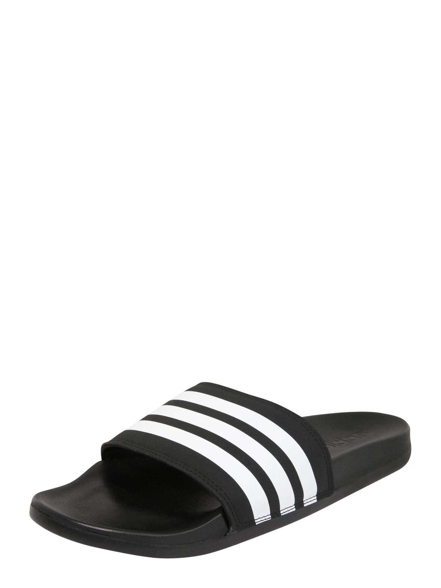 ADIDAS PERFORMANCE Sandalai / maudymosi batai 'Adilette CF' juoda / balta