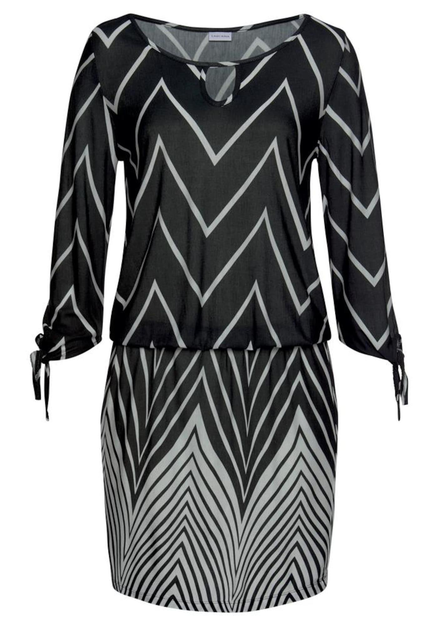LASCANA Paplūdimio suknelė balta / juoda
