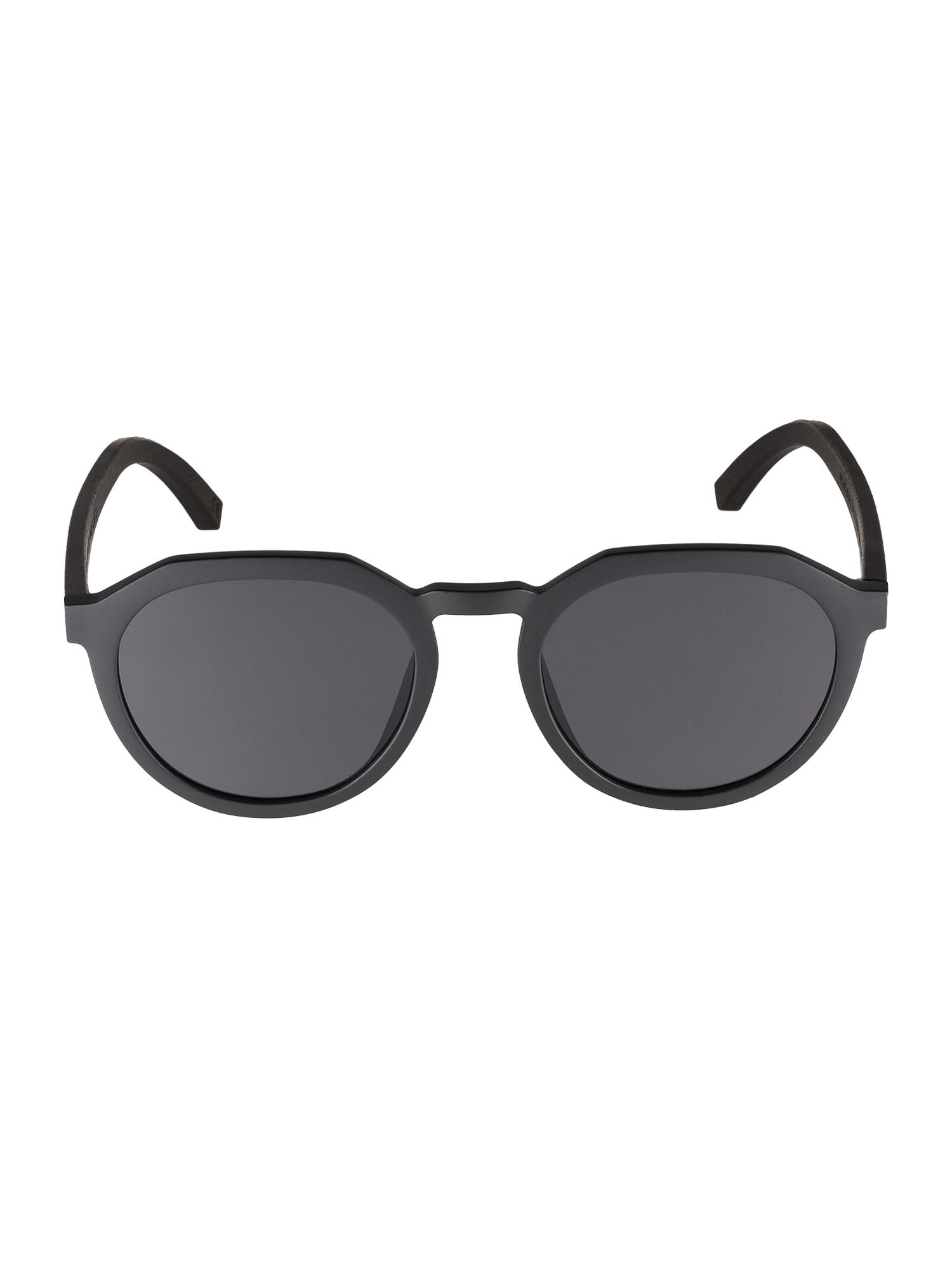 TAKE A SHOT Sluneční brýle 'Wilson: Schwarzes Eichenholz'  černá