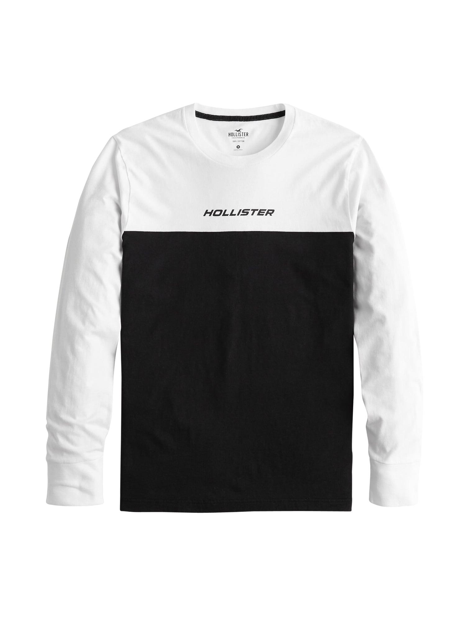HOLLISTER Marškinėliai juoda / balta