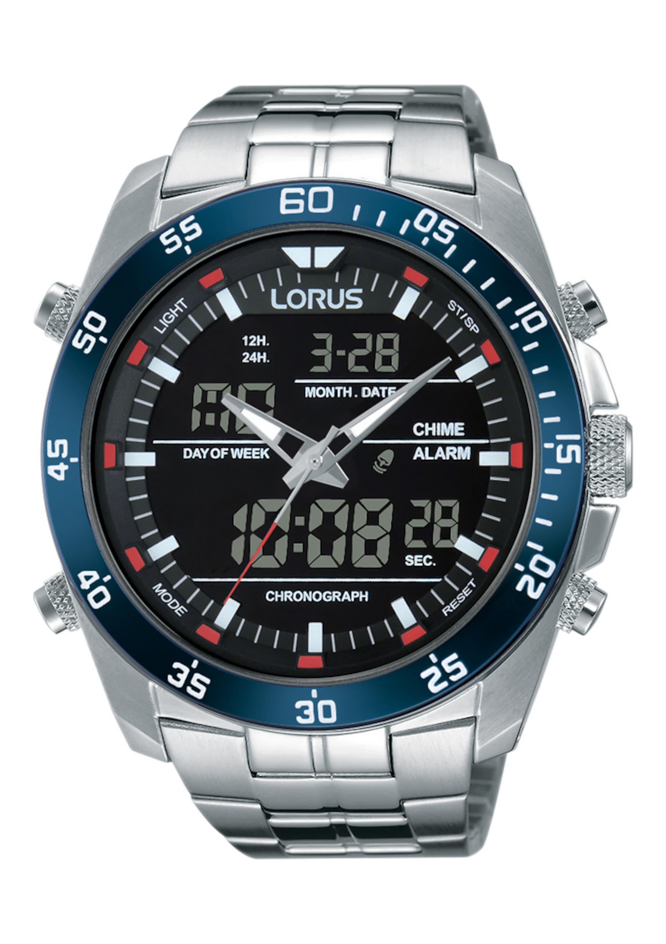 Herren Lorus Uhr 'RW623AX9' blau,  schwarz,  silber | 04894138326370