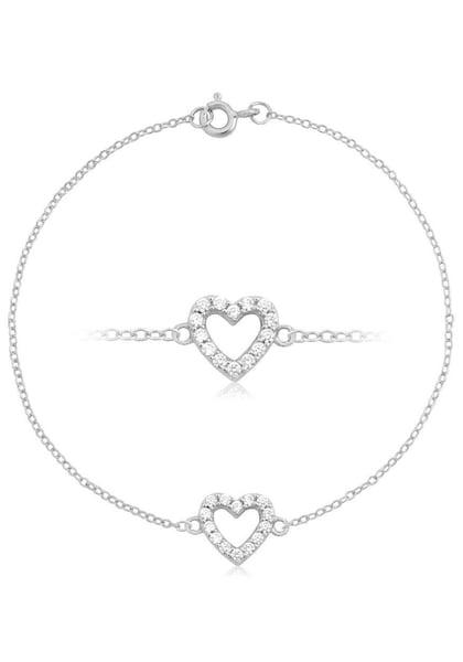Armbaender für Frauen - Armband 'Herz, Liebe, Romantik' › FIRETTI › silber transparent  - Onlineshop ABOUT YOU