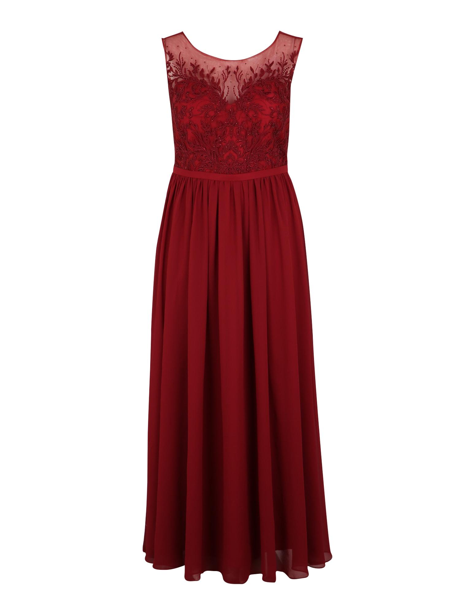 My Mascara Curves Vakarinė suknelė 'LACE SHOULDER' raudona