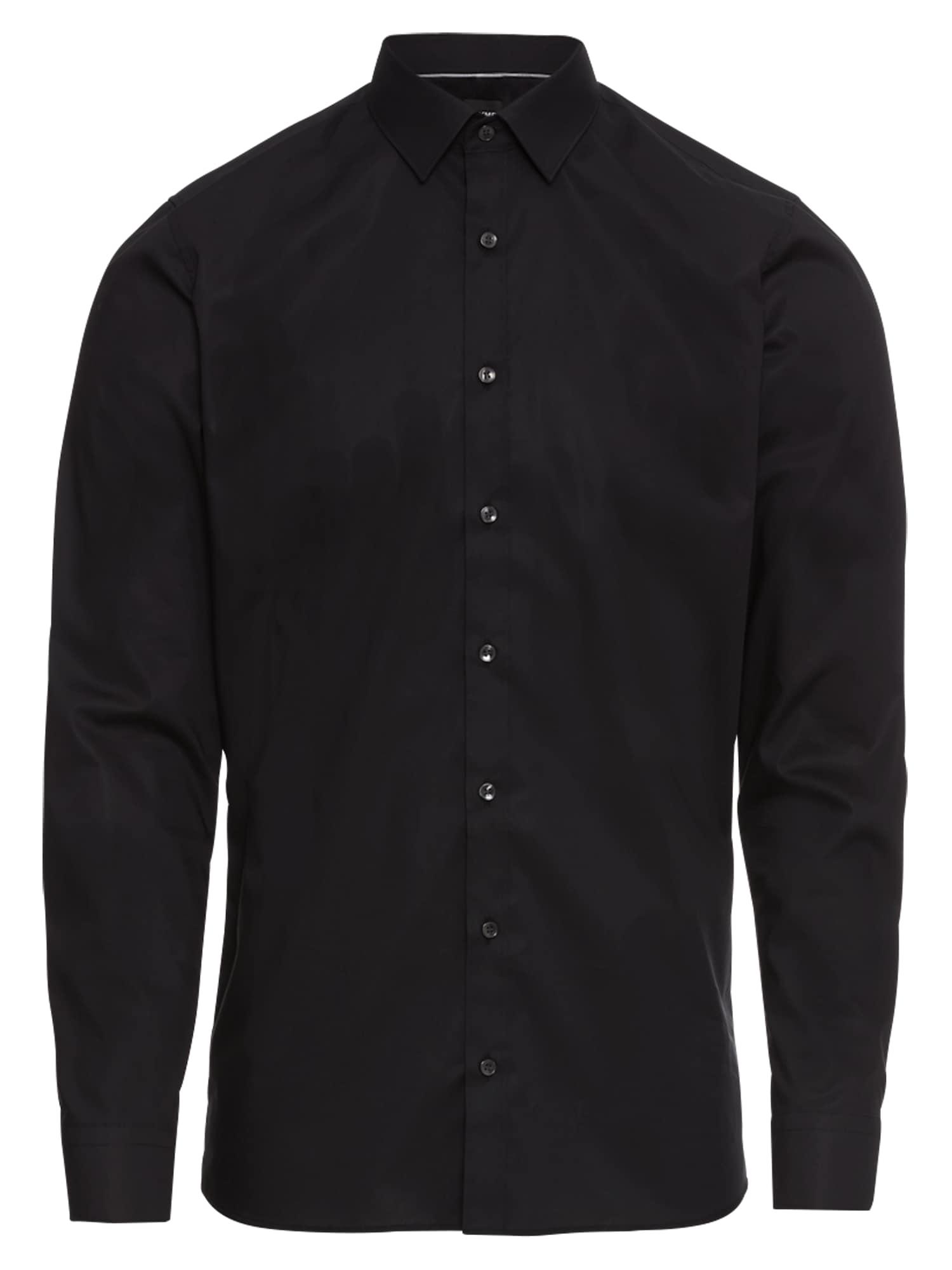 OLYMP Dalykinio stiliaus marškiniai juoda