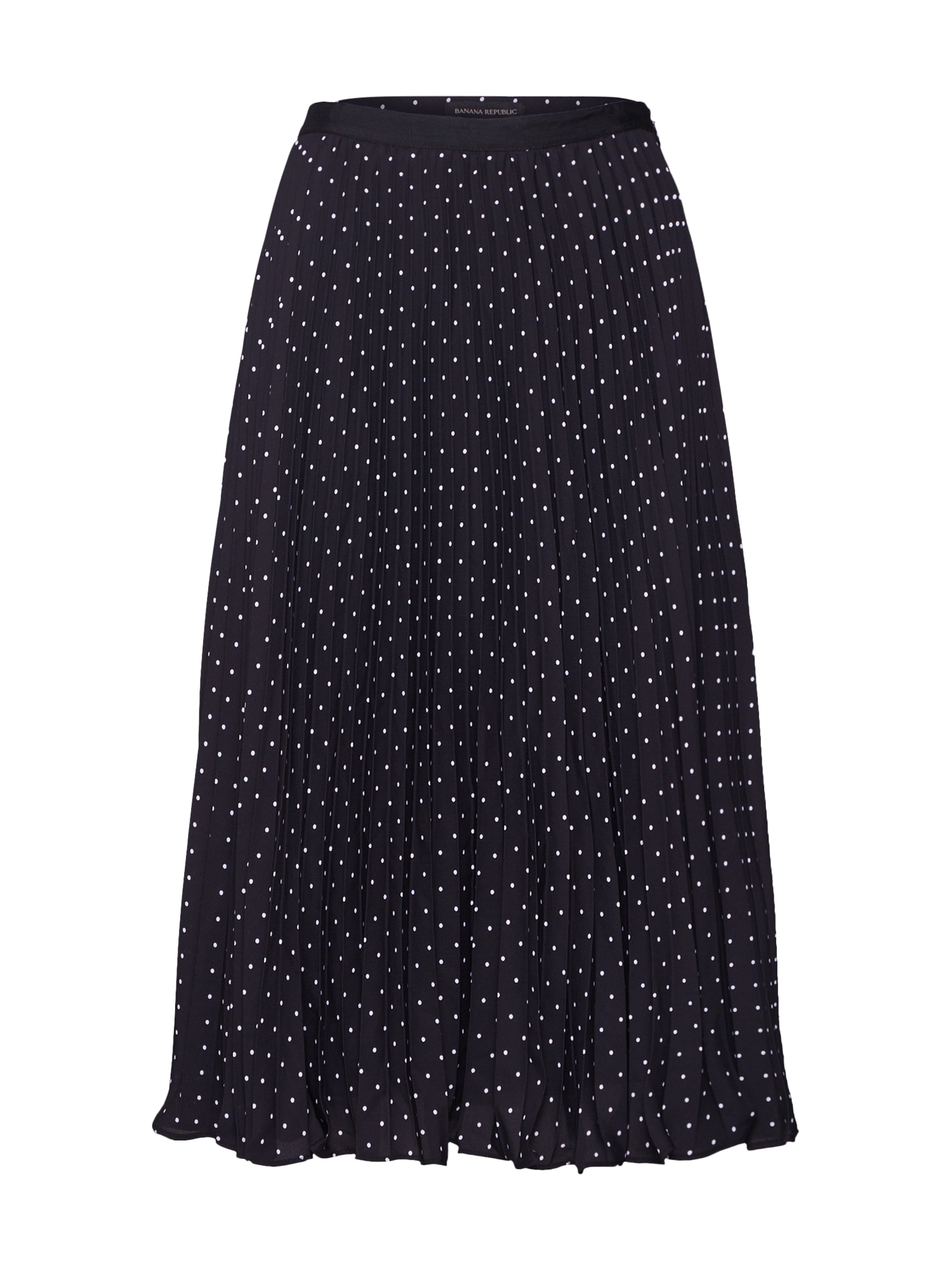 Banana Republic Sijonas 'PIN DOT PLEATED SKIRT' juoda