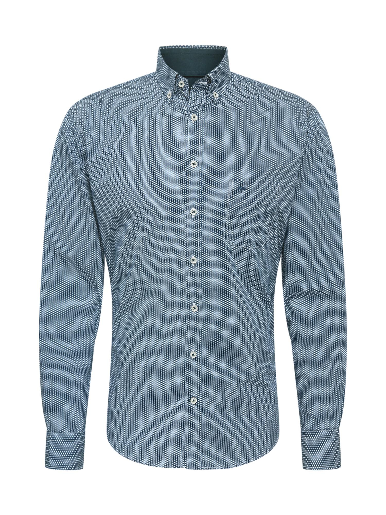 FYNCH-HATTON Marškiniai tamsiai mėlyna / balta