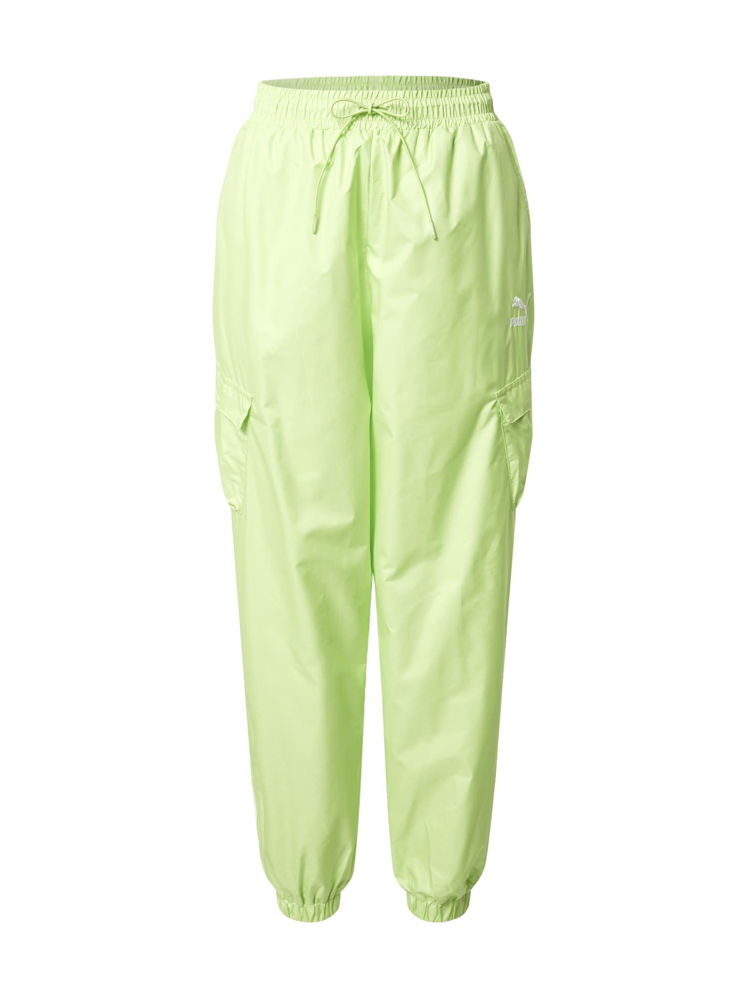 PUMA Laisvo stiliaus kelnės neoninė žalia