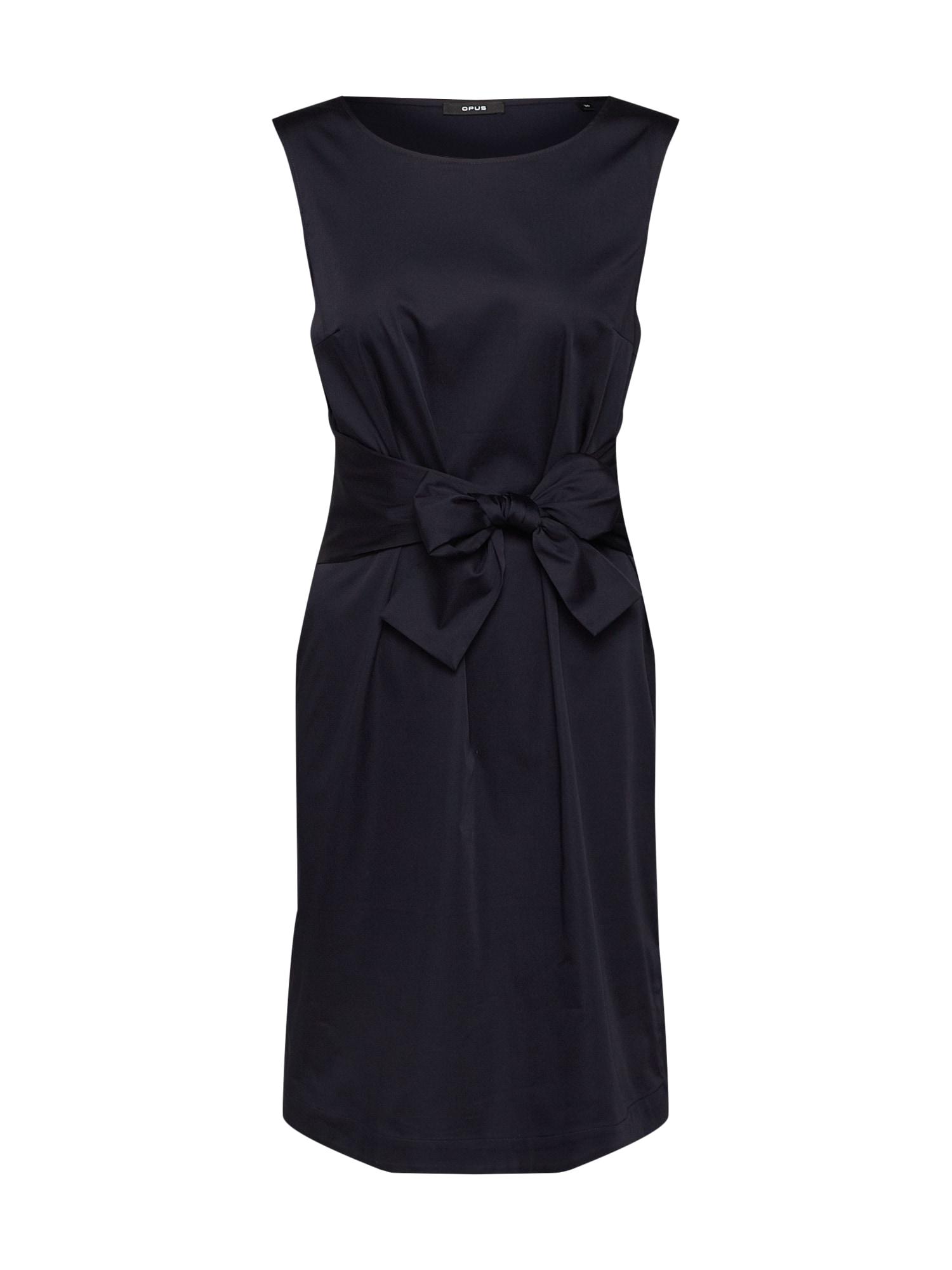 Pouzdrové šaty Welia solid modrá OPUS