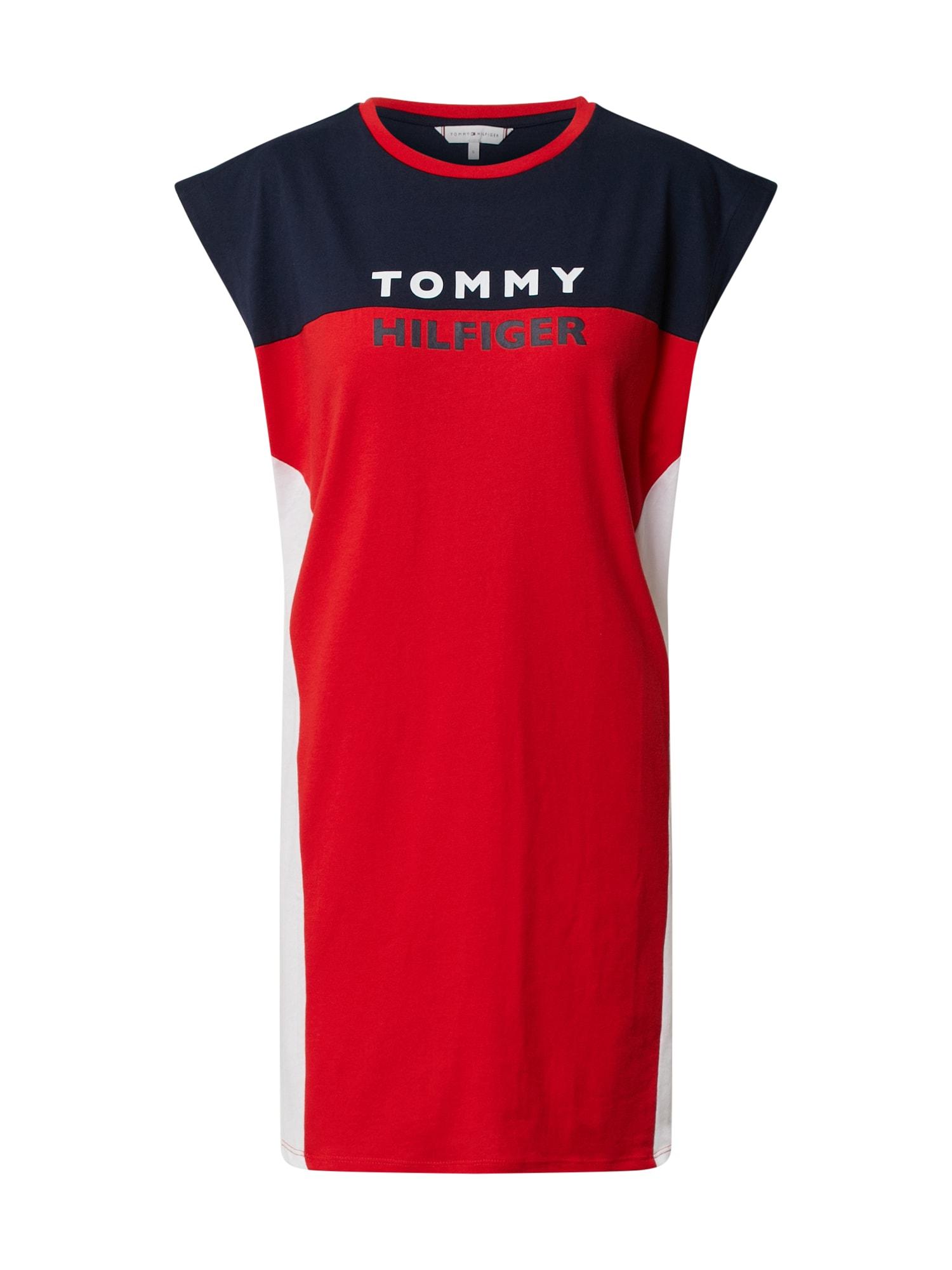 Tommy Hilfiger Underwear Nočná košieľka  červené / biela / námornícka modrá