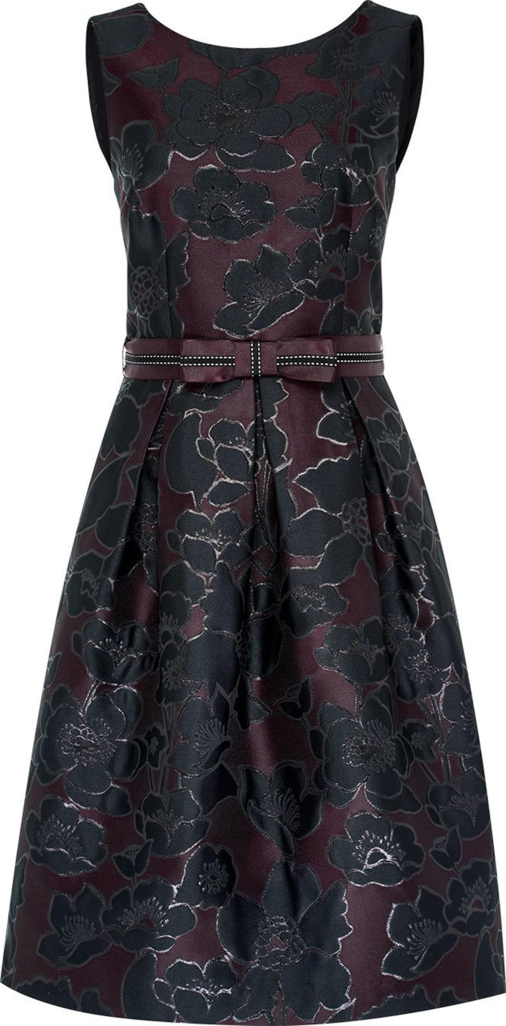 hallhuber jacquard kleid mit ripsg rtel in mischfarben about you. Black Bedroom Furniture Sets. Home Design Ideas