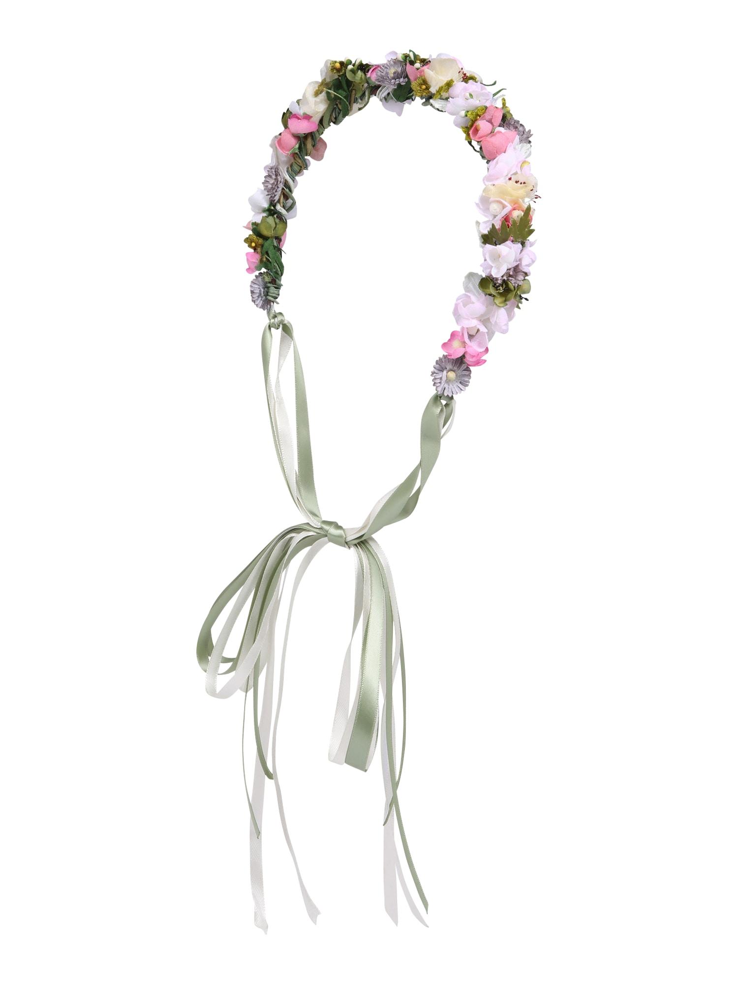 Šperky do vlasů Midsummer Flowercrown zelená šeříková růžová We Are Flowergirls