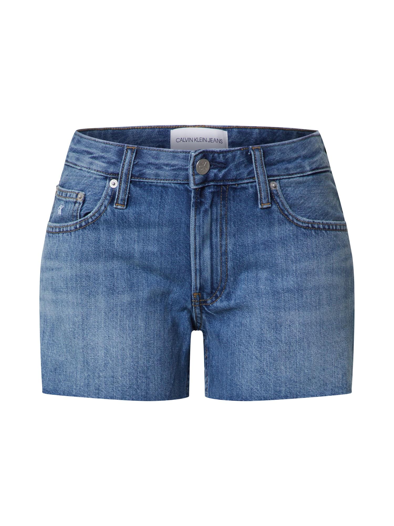 Calvin Klein Džinsai tamsiai (džinso) mėlyna