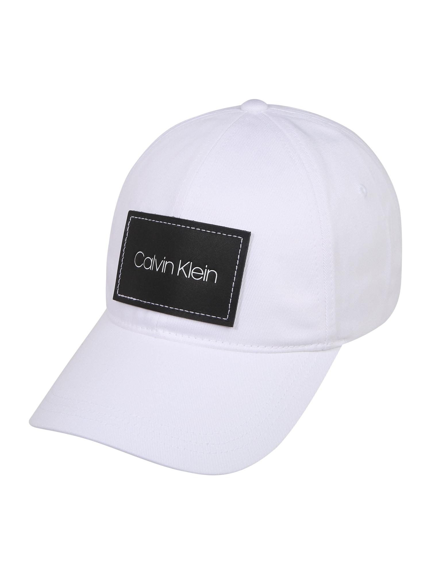 Calvin Klein Kepurė 'PATCH BB' balta