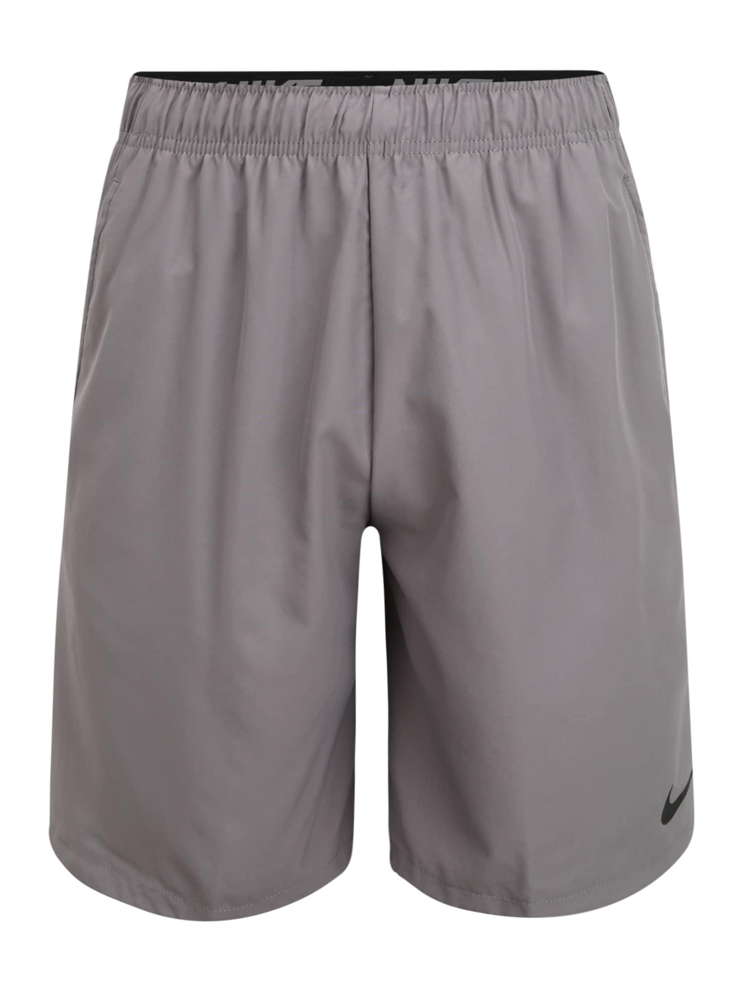 NIKE Športové nohavice 'Nike Flex'  sivá