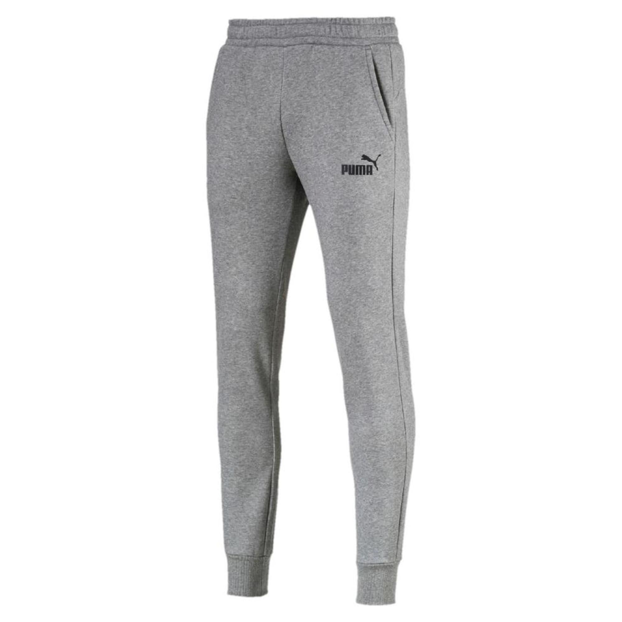 PUMA Sportinės kelnės juoda / margai pilka