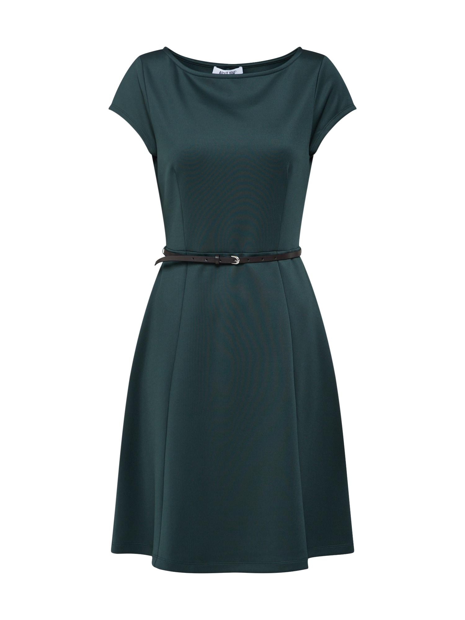 Šaty Vanessa tmavě zelená ABOUT YOU