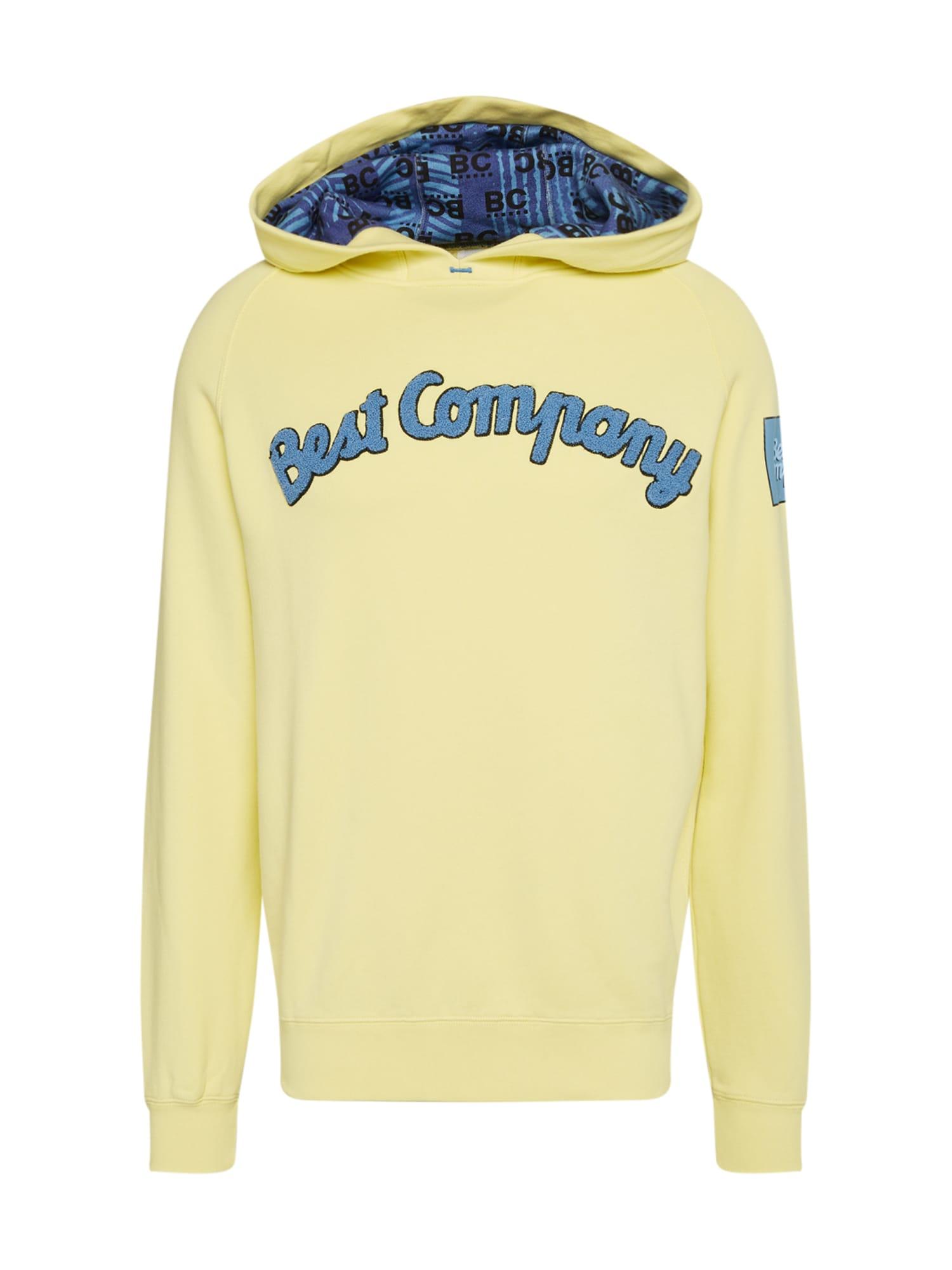 Best Company Megztinis be užsegimo mėlyna / geltona