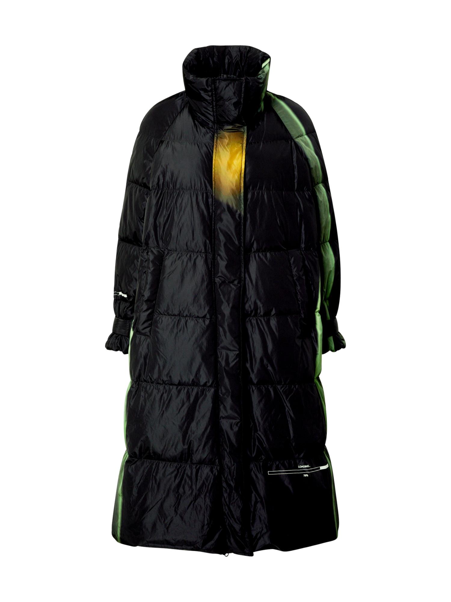 JNBY Žieminis paltas '5J0702140' juoda / geltona / žalia