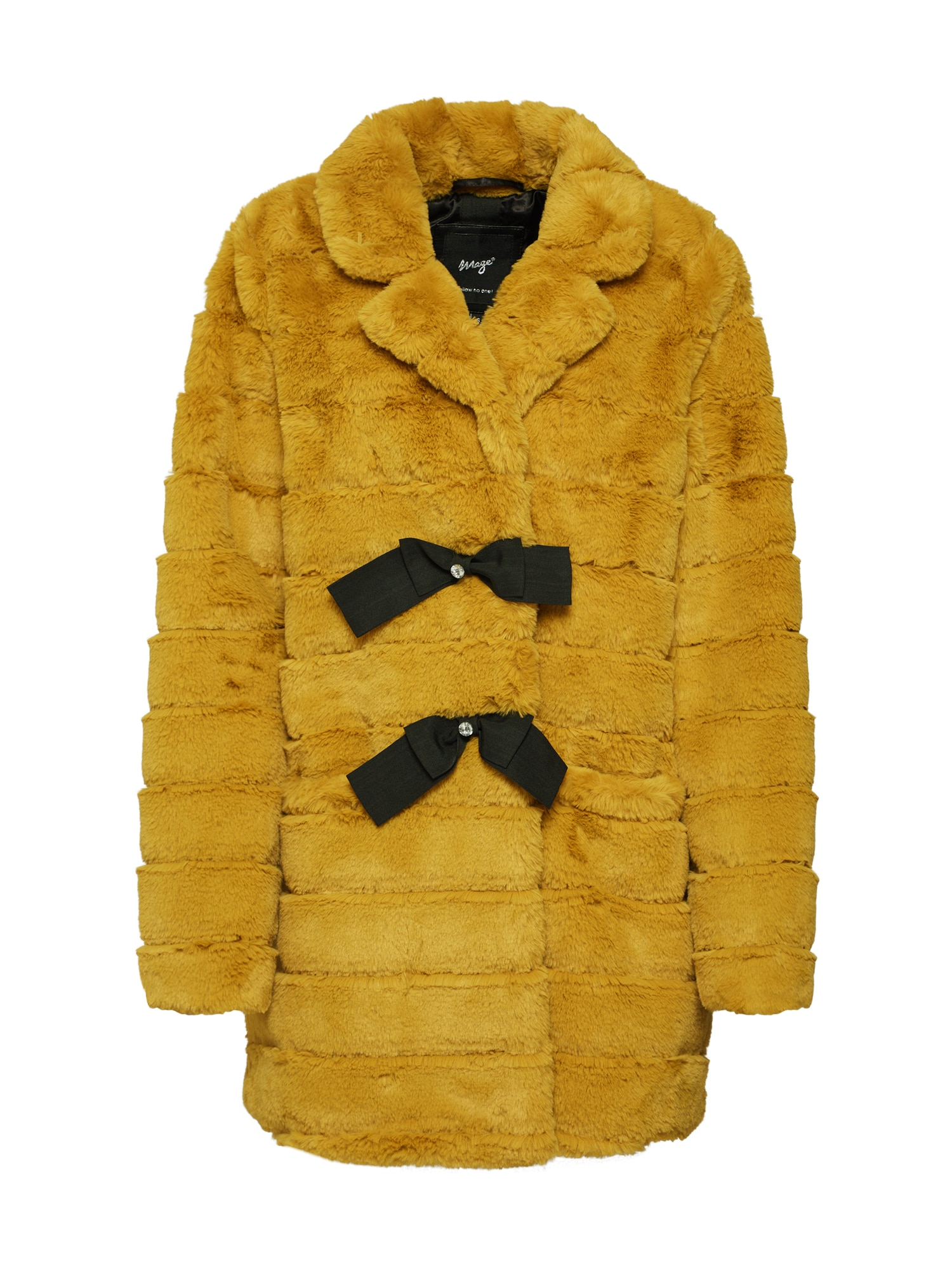 Zimní kabát Mennifee hořčicová černá Maze